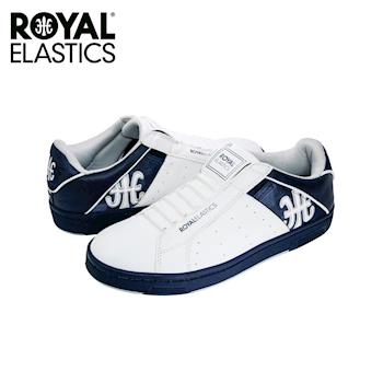 【Royal Elastics】男-Icon Alpha 休閒鞋-白/藍底(02072-058)