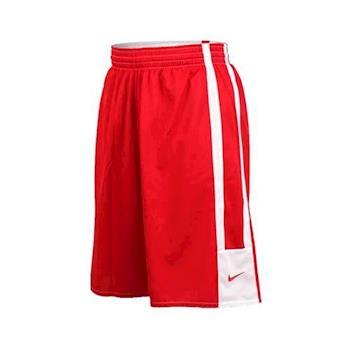 NIKE 男針織短褲-籃球褲 運動褲 慢跑 路跑 雙面 球褲 紅白