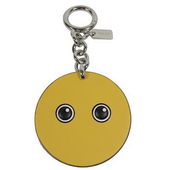 COACH 16193 可愛圖案造型皮革鑰匙圈.黃