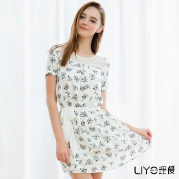 【LIYO理優】LIYO理優洋裝縷空滿版印花洋裝E636002