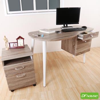 《DFhouse》新品上架 羅浮宮4尺多功能浮雕工作桌+檔案櫃*立體浮雕PVC桌面*