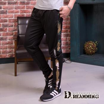 【Dreamming】野外迷彩拼接超彈力運動長褲(共二色)