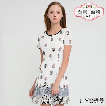 【LIYO理優】MIT洋裝圓領印花洋裝626096