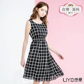 【LIYO理優】MIT洋裝格紋雪紡長洋裝626058