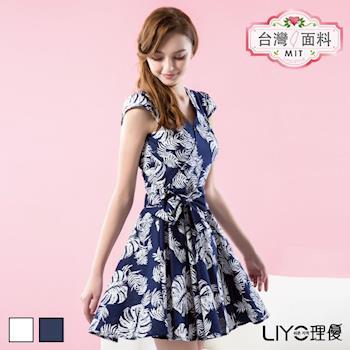 【LIYO理優】洋裝MIT印花V領洋裝626039
