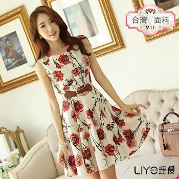 【LIYO理優】洋裝MIT印花無袖洋裝 626008