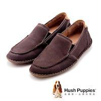 Hush Puppies 正裝休閒直套式方頭便鞋 男鞋-棕(另有藍)