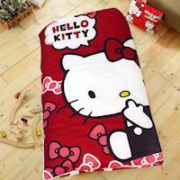 HO KANG 三麗鷗授權 冬夏鋪棉兩用兒童睡袋 加大款-經典甜美紅