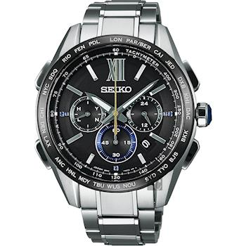 SEIKO精工 Brightz 135週年限量鈦計時太陽能電波腕錶 8B92-0AS0D SAGA225J