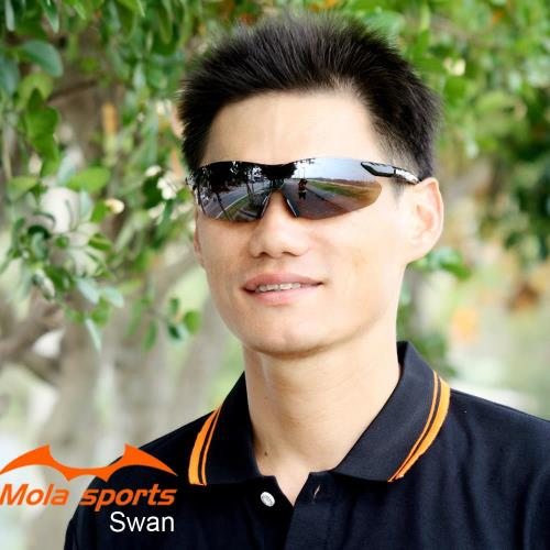MOLA SPORTS 摩拉運動太陽眼鏡 超輕量 跑步/高爾夫/自行車- Swan_Blb