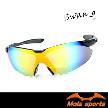 MOLA SPORTS 摩拉運動太陽眼鏡 多層彩色鍍膜 跑步/高爾夫/自行車- Swan_g