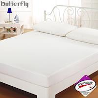 BUTTERFLY - SGS認證防水全包覆式保潔墊-白 單人105x186x30cm 台灣製造
