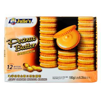 Julies 茱蒂絲純花生醬三明治餅乾180g x12包