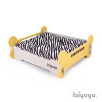 IBIYAYA依比呀呀 寵物傢俱系列-寵物骨頭床-M-黃米(FF1206)