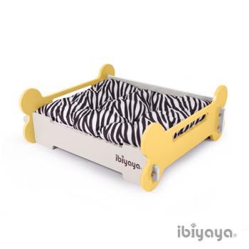 【IBIYAYA依比呀呀】寵物傢俱系列-寵物骨頭床-M-黃米(FF1206)