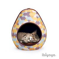 【IBIYAYA依比呀呀】摩登恐龍蛋寵物窩-幾何黃(FB1412)