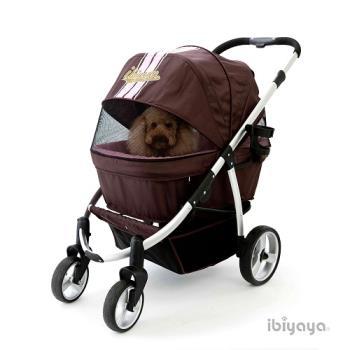 【IBIYAYA依比呀呀】IBBI頭等艙寵物推車-粉咖(FS1202)