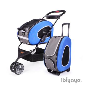 IBIYAYA依比呀呀 五彩繽紛寵物推車提包組-寶藍(FS1009)