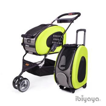 IBIYAYA依比呀呀 五彩繽紛寵物推車提包組-嫩綠(FS1009)