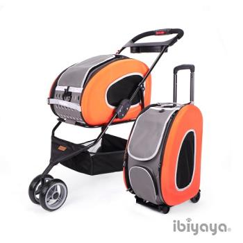 IBIYAYA依比呀呀 五彩繽紛寵物推車提包組-亮橘(FS1009)