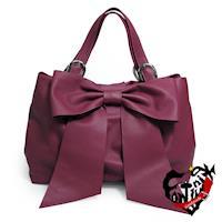【Continuita 康堤尼】波芙女孩蝴蝶軟提包-紫色