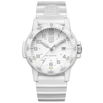 LUMINOX 雷明時SEA TURTLE 0320海龜系列腕錶-純白/44mm A0327.WO