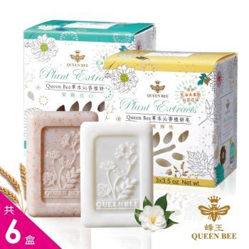 【蜂王Queen Bee】草本沁香植妍皂 100gx3入 共6盒(隨機贈植萃漢方美膚皂2盒)