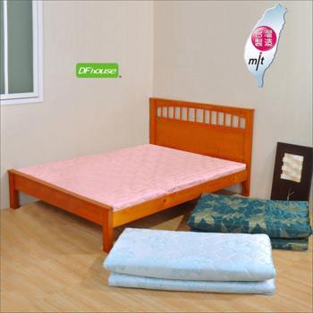 《DFhouse》黛爾夢5尺雙人緹花布透氣床墊(三色)- 孟宗竹 單人床 雙人床 床架 床組 透氣 舒適 床墊