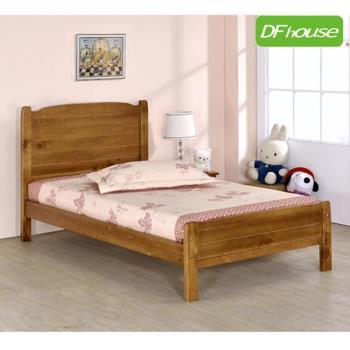 《DFhouse》涼夏5尺實木雙人床- 單人床 雙人床 床架 床組 實木 涼夏床 臥室 居家 生活起居 透氣