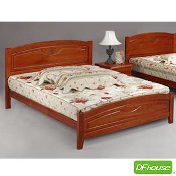 《DFhouse》百合五尺實木床- 單人床 雙人床 床架 床組 實木 木藝床.