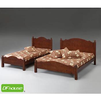 《DFhouse》禾風六尺實木床- 單人床 雙人床 床架 床組 實木 木藝床
