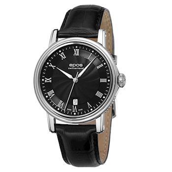 epos 羅馬光輝經典波紋機械錶 3390.152.20.25.25FB