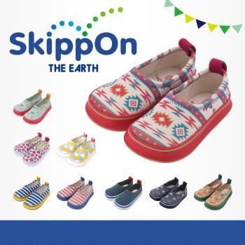 【日本SkippOn】兒童休閒機能鞋〈粉彩圖騰〉
