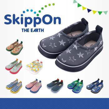 【日本SkippOn】兒童休閒機能鞋〈黑底滿天星〉
