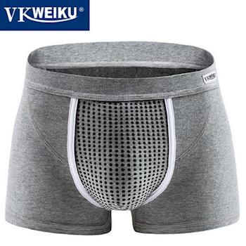 原裝公司貨!VK英國衛褲.U型純棉系列VKWEIKU青年款四角褲18枚磁石VK-C006 (灰色)