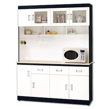 【顛覆設計】安迪黑白配5尺石面碗盤櫃組
