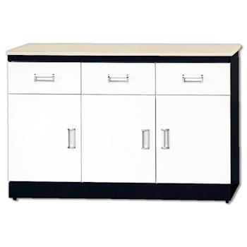 【顛覆設計】安迪黑白配4尺石面碗盤櫃下座