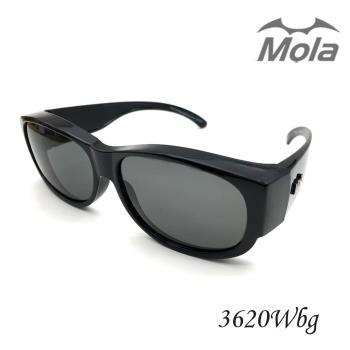 MOLA 摩拉包覆式偏光太陽眼鏡 近視可戴 男女 超輕量 UV400-3620Wbg