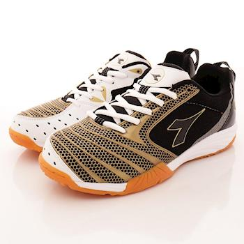 DIADORA-黃金PU羽排球鞋-MR3920黑金-(男段)