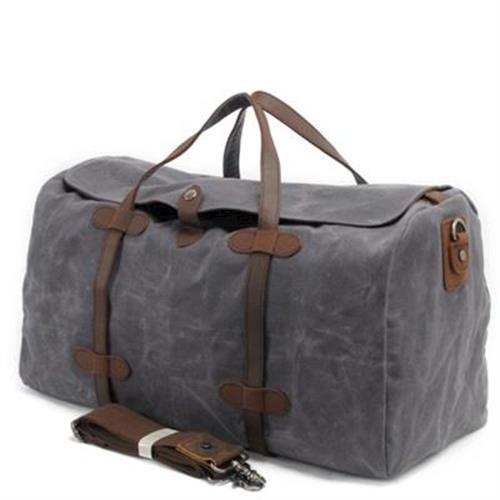 【米蘭精品】手提包瘋馬皮帆布側背包大容量旅行休閒復古4色73nd12