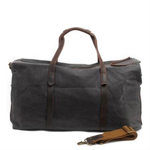 【米蘭精品】手提包瘋馬皮帆布側背包戶外休閒旅行大容量4色73nd32