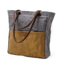 【米蘭精品】手提包帆布肩背包簡約復古撞色購物袋5色73nd89