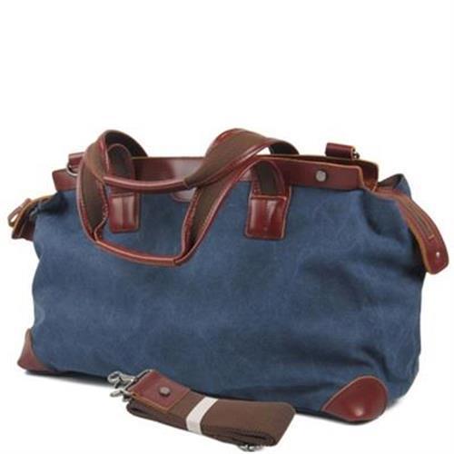 【米蘭精品】手提包帆布側背包歐美復古旅行大容量3色73nd9