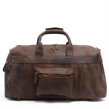 【米蘭精品】手提包瘋馬皮側背包戶外旅行大容量行李袋73nd72