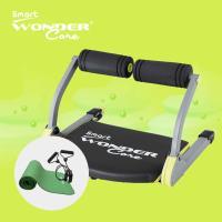 Wonder Core Smart全能輕巧健身機-嫩芽綠+運動墊-綠+拉力繩(三件組)