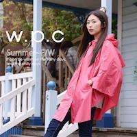 w.p.c垂墜斗篷款 時尚雨衣/風衣(R1004)-桃紅