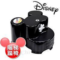 【迪士尼Disney】米奇大頭造型日本製 防滑兒童椅 階梯椅 踩腳椅 防滑矮凳(全年齡適用)-黑