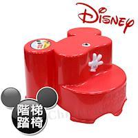 【迪士尼Disney】米奇大頭造型日本製 防滑兒童椅 階梯椅 踩腳椅 防滑矮凳(全年齡適用)-紅
