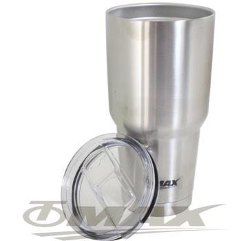 omax雙層304不銹鋼超大保冰保溫杯酷冰壩杯-2入+茶包袋170入(2包裝)