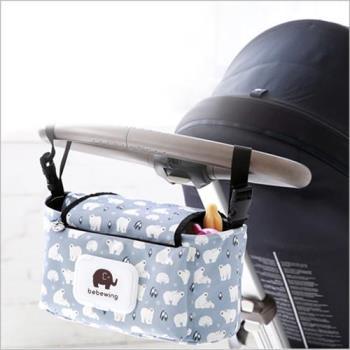 嬰兒推車奶瓶濕紙巾收納袋置物袋外出掛袋